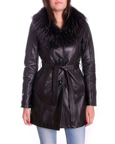 Giacca Giubbotto Pelle Donna Women Leather Jacket Veste Blouson Femme Cuir STEF