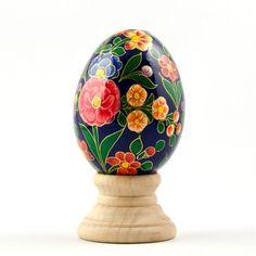 Alemone Flowers Wooden Egg