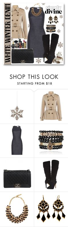 """""""Denim Dress"""" by ina-kis ❤ liked on Polyvore featuring Shishi, Burberry, dVb Victoria Beckham, Samantha Wills, Pupa, Chanel, GUESS and Etro"""