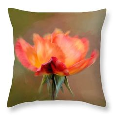 Pink Throw Pillow featuring the photograph The Rose by Mary Timman