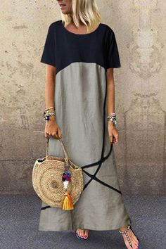 Fashion Tips Casual Cotton And Linen Maxi Dress.Fashion Tips Casual Cotton And Linen Maxi Dress Maxi Outfits, Boho Outfits, Vacation Outfits, Casual Outfits, Maxi Dress With Sleeves, Floral Maxi Dress, Boho Dress, Maxi Robes, Casual Summer Dresses