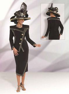 Donna Vinci 11504 Womens Elaborate Embellished Suit
