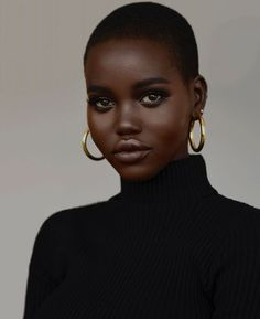 Mali Magic's New Sky 🌌🖤 . My good sis - Thank you for showing out for Mali Magic Beauty. Damn, I'm either lucky, Magic or Blessed. Dark Skin Makeup, Dark Skin Beauty, Sleek Makeup, Neutral Makeup, Black Beauty, Beauty Photography, Dark Skin Models, Black Models, Bobbi Brown