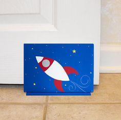 Children's Hand Painted Door Stop - Kid's Room Doorstop or Shelf Sitter Custom Painted in ANY Theme