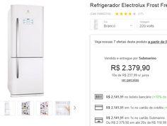 Refrigerador Electrolux Frost Free Duplex DB52 454 Litros Branco << R$ 214191 >>