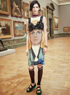 Art meets Fashion............hello, pinned by Ton van der Veer