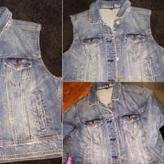 Jean jacket into vest<3