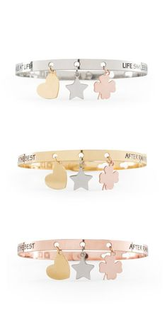 WE POSITIVE BRACCIALE CHARMS FRIENDS in ACCIAIO uomo donna FR011 FR012 FR013