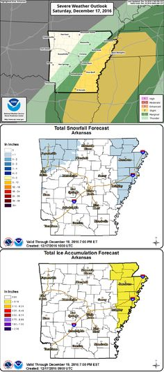 says For Central Arkansas Thru Tonight: Patchy AM Fog. Cloudy & Warmer W. Widely Sct'd AM Showers & Scat'd PM T'Storms. A Few Could Be Strong To Severe. Hi 72. Tonight: Colder W. Rain. Rain Could Mix With Freezing Rain Before Ending After Midnight. Little Or No Accumulation. Lo 25. Sunday Thru Friday: Sunny To Pt. Cldy Mild Days & Clear Cold Ngts. Hi Sun 32 & Lo 15. Hi Mon 34 & Lo 21. Hi Tue 46 & Lo 30. Hi Wed 51 & Lo 34. Hi Thu 51 & Lo 34. Hi Fri 53. Updates: http://www.weather4ar.org…