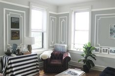 MOLDING IDEAS:  love these at: Interiors by Kenz: Paint Faux Molding