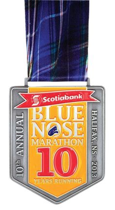 Scotiabank Blue Nose - celebrating 10 years in Marathon, Running, 10 Years, Blue, Sports, Inspiration, Hs Sports, Biblical Inspiration, Marathons