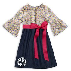 Check out this Multi Floral Dark Denim Pink Sash Dress for $32 or find your favorite gifts at Lolly Wolly Doodle. Click on the link to receive three dollars off your next order!