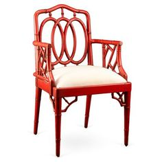 Corsica Bamboo Armchair, Red by One Kings Lane $459