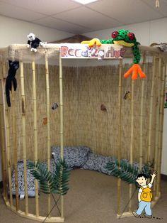 Como decorar un espacio de lectura en el aula escolar.
