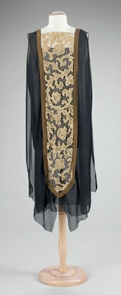 dress ca. 1920 via The Costume Institute of The Metropolitan Museum of Art