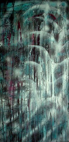 'Rain' my father all time favorite , painted on wood with my eyes full of tears , I couldnt even see...2004