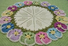 Knot Garden: Knitting and Crochet Pansy doily