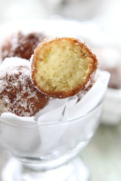 Sugared Doughnut Holes ~ Hello light and fluffy goodness coated in sugar!