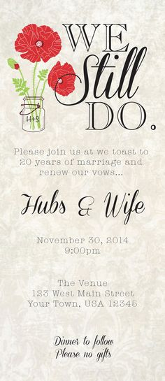 1000 Ideas About Vow Renewal Invitations On Pinterest
