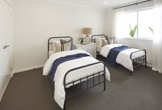BEDROOM of Malibu 29 single storey home. On display at Housing World Wongawilli. Part of the Evolve range and brought to you by Masterton Homes Home Bedroom, Bedrooms, Living Area, Living Spaces, Malibu Homes, Comfy Sofa, Storey Homes, New Home Builders, Love Home