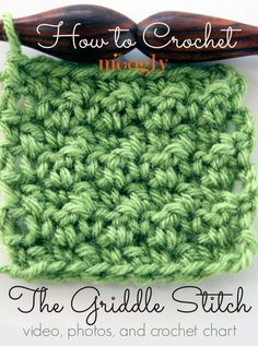 #Crochet griddle stitch