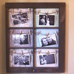 Another DIY window frame picture frame that I made as a 1 yr anniversary gift.
