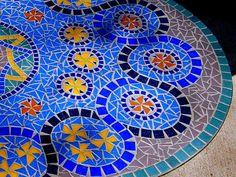 VENDE: Cristal azul mosaico mesa Azulejo de vidrio por KSPMosaics