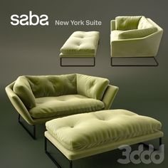 New York Suite by Saba Italia - 1 Seater & Ottoman