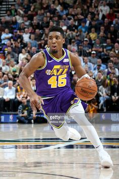 fbfa5d8e8 Donovan Mitchell  45 of the Utah Jazz handles the ball against the Houston  Rockets on