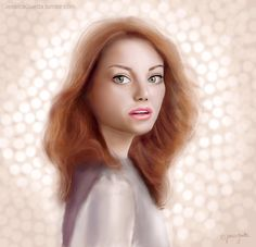 Emma Stone by JESSICA GUETTA    Digital Painting