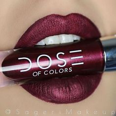 """•Corset• metallic liquid matte lipstick from our LE •Dare to Dazzle Trio• :sparkles: Gorgeous lips belong to @sagerimakeup #DoseofPerfection #DoseofColors"""