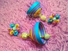 Quilled jumka,quilled stud@ FA CREATION https://m.facebook.com/profile.php?id=1461629180750412