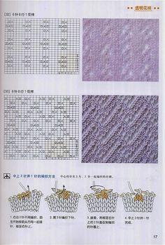 Adījumu raksti - Daina Veide - Álbuns da web do Picasa Diy Knitting Kit, Sweater Knitting Patterns, Double Knitting, Knitting Stitches, Free Knitting, Lace Patterns, Stitch Patterns, Crochet Patterns, Cable Knit Blankets