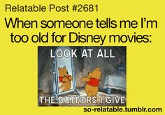 SOOO true! i get this all the time and i'm definitely trying Pooh's reaction next time.