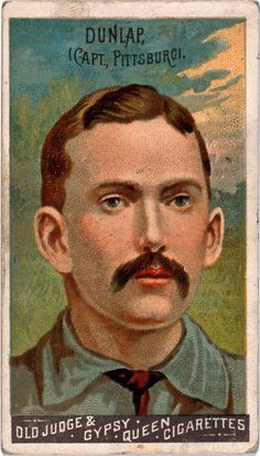 Issued by Goodwin & Company in 1888, this baseball card shows Fred Dunlap of the Pittsburgh Alleghenys. Dunlap was a second baseman for the National League team. These Goodwin Champions baseball cards