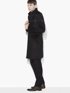 Wool & Mohair Plaid Coat - John Varvatos