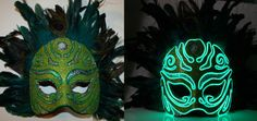 Foam EL Wire Mask Incan by JWRodriguezDesigns on Etsy, $100.00