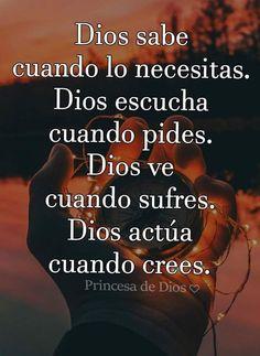¡AMÉN!🙏😘 Message Quotes, Faith Quotes, Bible Quotes, Me Quotes, Quotes En Espanol, Healing Words, Bible Words, Faith In Love, God Loves You