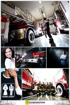 lisa and frank's engagement session - oakland fire station and lake merrit Firefighter Engagement Pictures, Engagement Couple, Engagement Session, Engagement Photos, Engagement Ideas, Engagements, Fireman Wedding, Firefighter Wedding, Firefighter Love