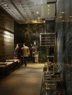 modern and masculine with a yorkville address, five stars, and pet-friendly policy. the expense-account-driven restaurant offers steaks to suits. there are also mini stools for birkin bags.