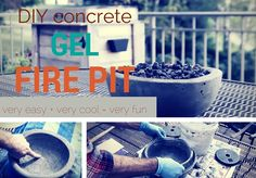 DIY Gel Fire Pit Tutorial - Great Patio Project for your Outdoor Space