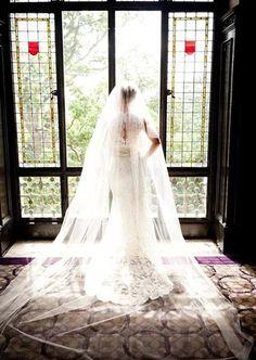 26 Best Chapel Length Wedding Veils images in 2019  e6630e623e30