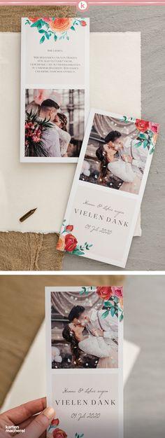 Die 171 Besten Bilder Von Hochzeit Dankeskarten In 2019
