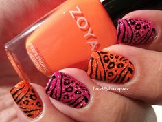 Zoya's Jancyn & Lolly were used for this kick ass mani! =)