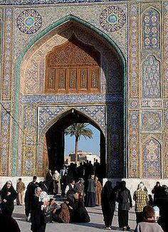Elaborate Tilework  Bagdad, Iraq   built in the 16th century