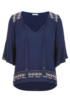 peasant top with embroidery - maurices.com