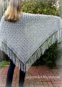 Lacy Crochet: Spider Stitch Shawl Free Pattern