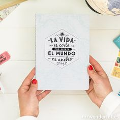 Libreta viajeras Mr Wonderful para soñar despierto #libreta #notebook #stationery #mrwonderfulshop