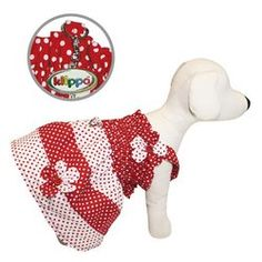 Polka Dot Dog Sundress by Klippo  Red and White  See description for size ** Learn more by visiting the image link.(This is an Amazon affiliate link and I receive a commission for the sales)