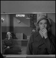 """Rod Serling, """"Mirror Image"""", The Twilight Zone (1960). Another excellent episode dealing with dopplegangers."""